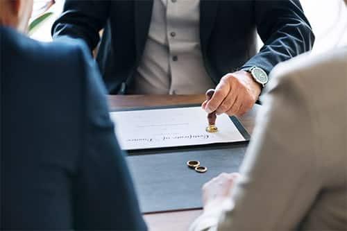 contrat de séparation entre deux personnes